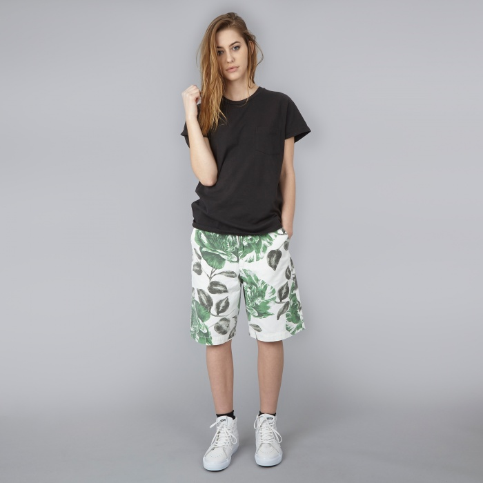 Ganni Huntington Canvas Shorts - Juniper Flower (Image 1)