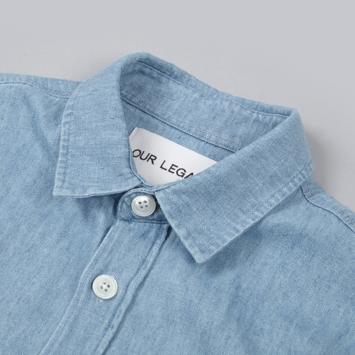 Our Legacy 2 Pocket Denim Shirt - Light Wash (Image 1)