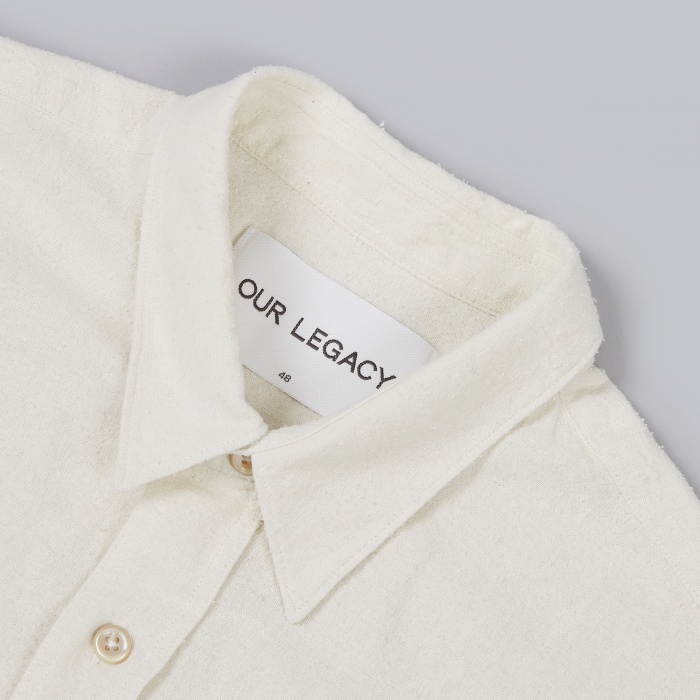 Our Legacy Classic Shirt Silk - White (Image 1)