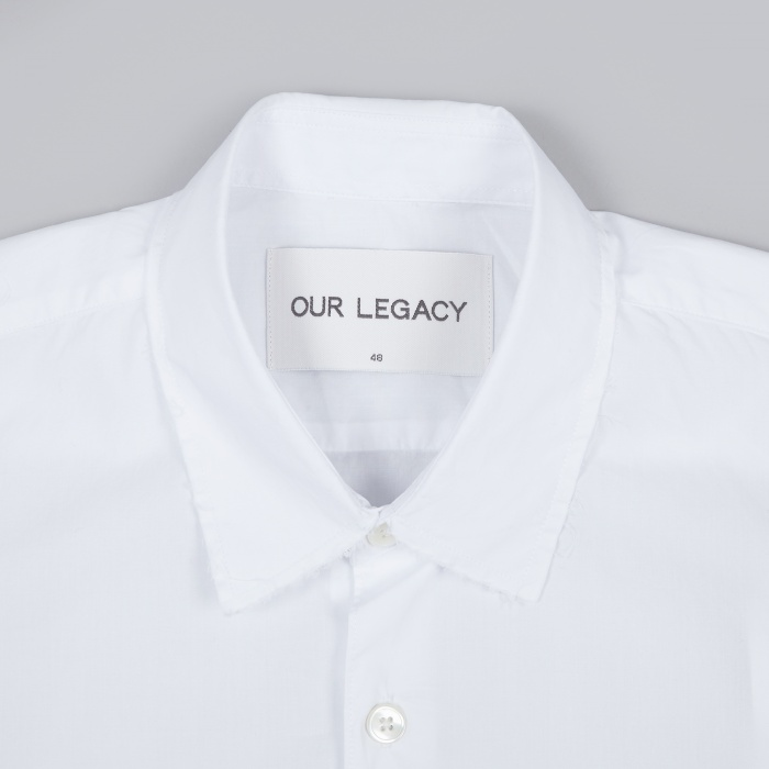 Our Legacy First Shirt Raw Edge - White (Image 1)