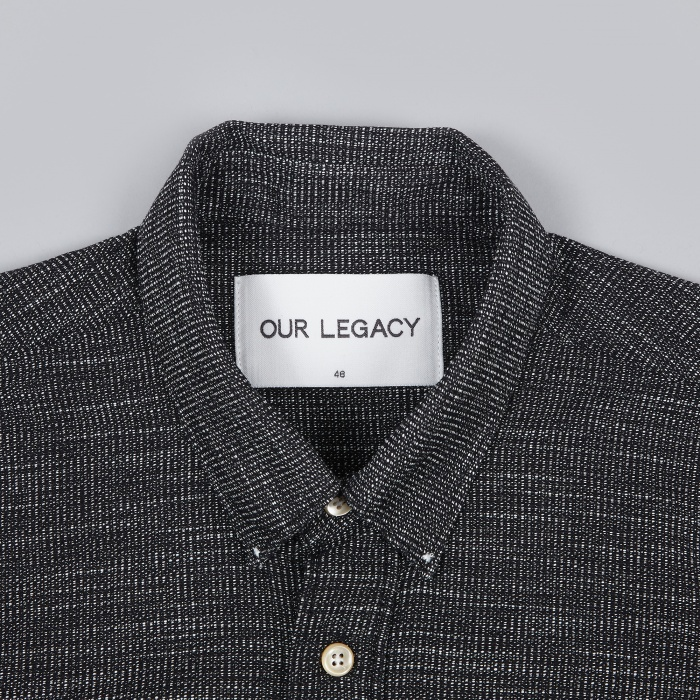 Our Legacy Generation Shirt - Black Waffle (Image 1)