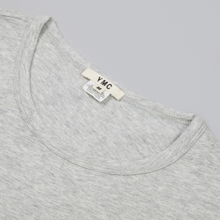 YMC Blurred Stripe Print Tee - Grey (Image 1)