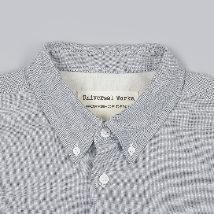 Universal Works College Oxford Shirt - Grey (Image 1)