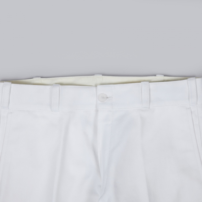 Gosha Rubchinskiy Heavy Twill Cotton Pants - White (Image 1)