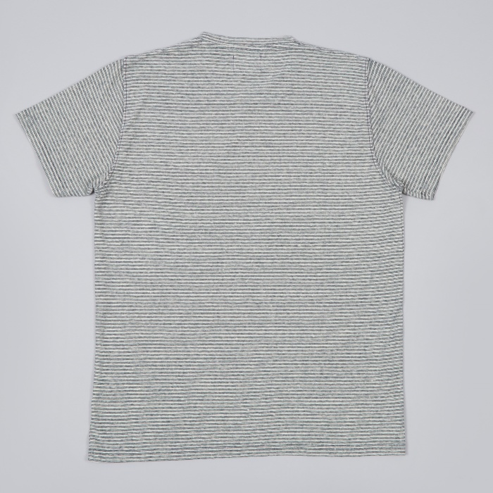 Norse Projects Niels Natural Stripe Tee - Ecru (Image 1)