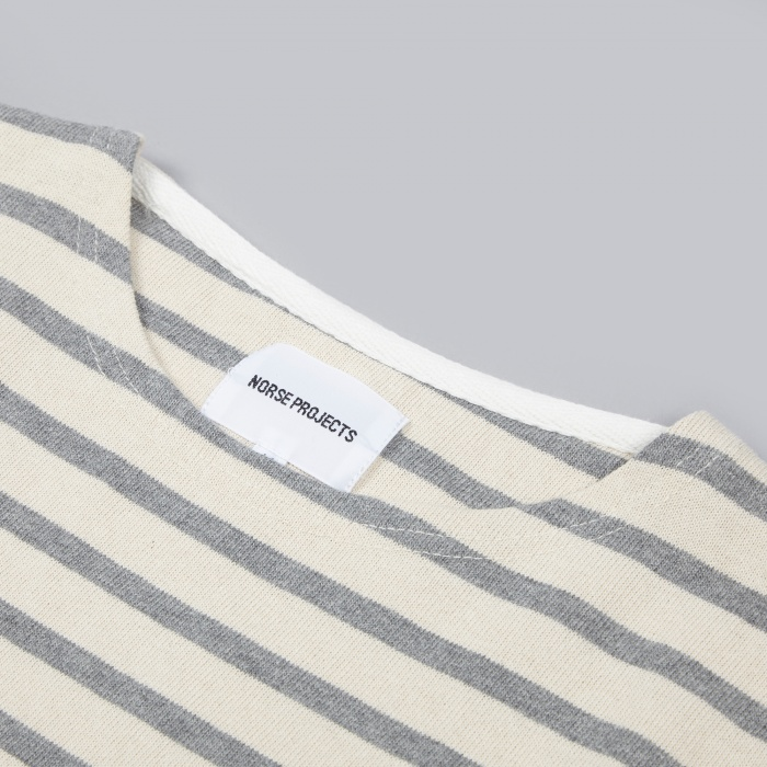 Norse Projects James Compact Tee - Light Grey Melange (Image 1)