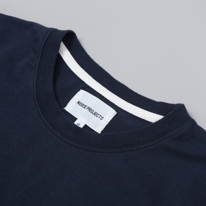 Norse Projects Niels Basic Tee - Navy (Image 1)
