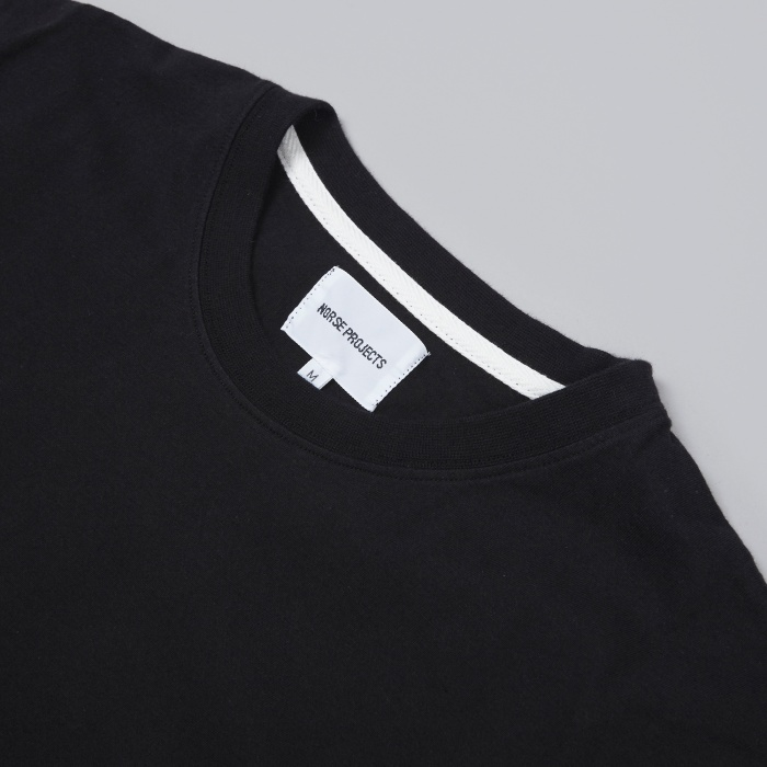 Norse Projects Niels Basic Tee - Black (Image 1)