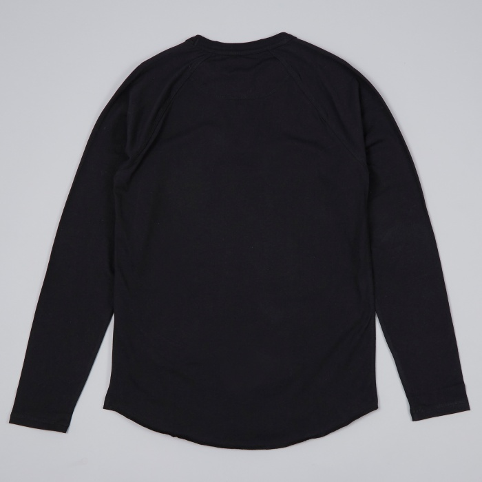 Norse Projects Aske Perforated Jersey LS Tee - Black (Image 1)