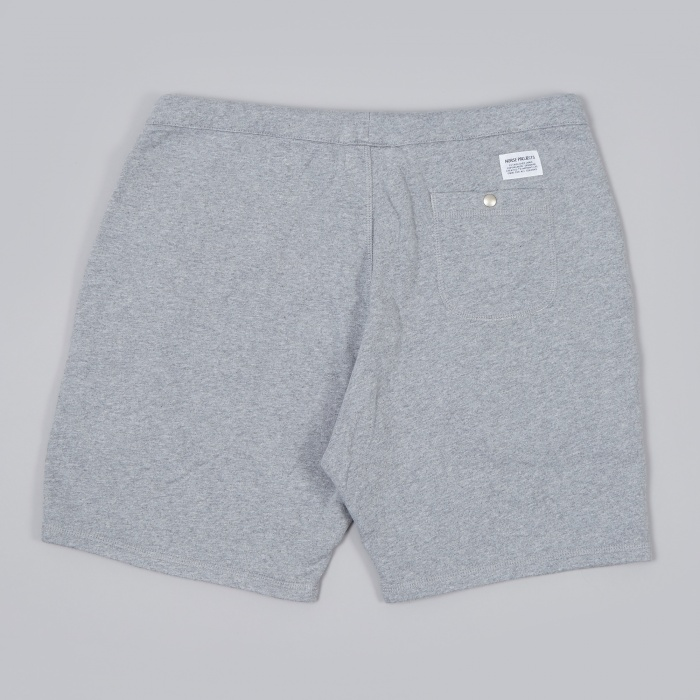 Norse Projects Ro Short Solid Brushed - Light Grey Melange (Image 1)