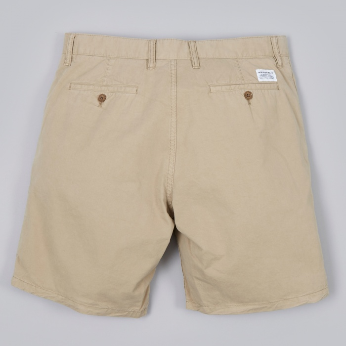 Norse Projects Aros Short Light Twill - Khaki (Image 1)