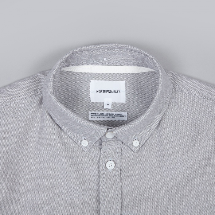 Norse Projects Anton Oxford Shirt - Light Grey (Image 1)