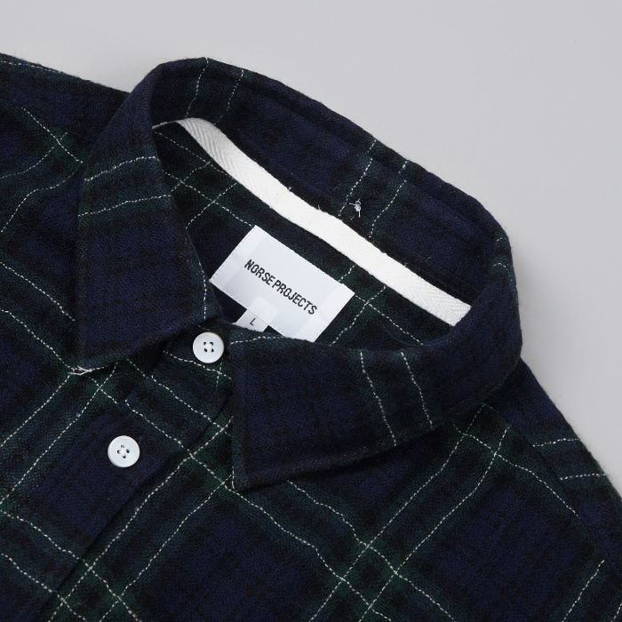Norse Projects Anton Loose Weave Gauze Shirt - Navy (Image 1)