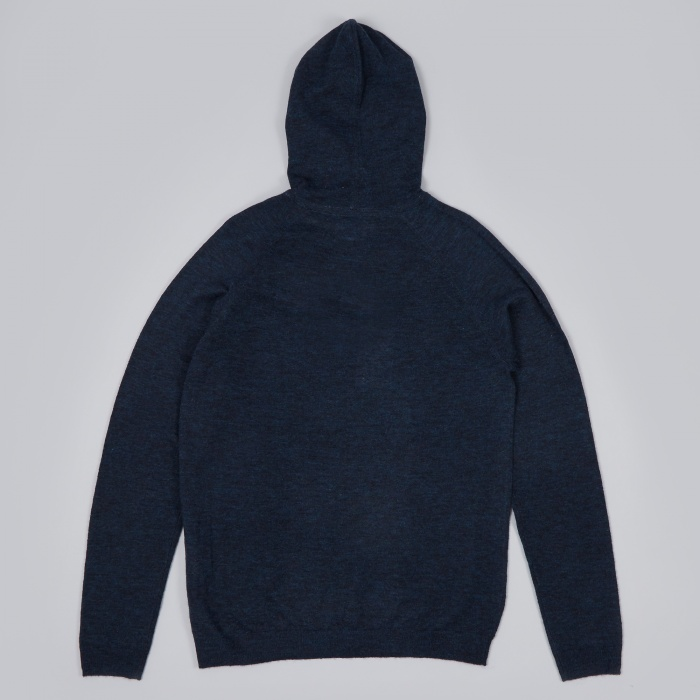 Norse Projects Asbjorn Melange Alpaca Knit - Navy (Image 1)