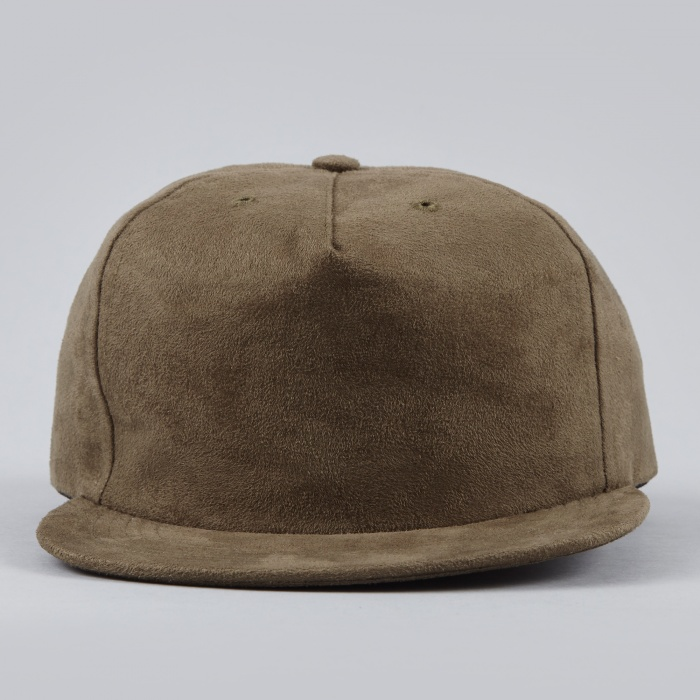 Norse Projects Fake Suede Trucker Cap - Olive Drab (Image 1)