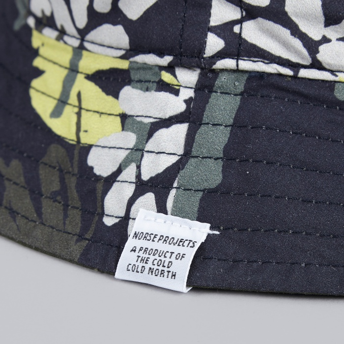 Norse Projects Reversible Flower Bucket Hat - Blue (Image 1)