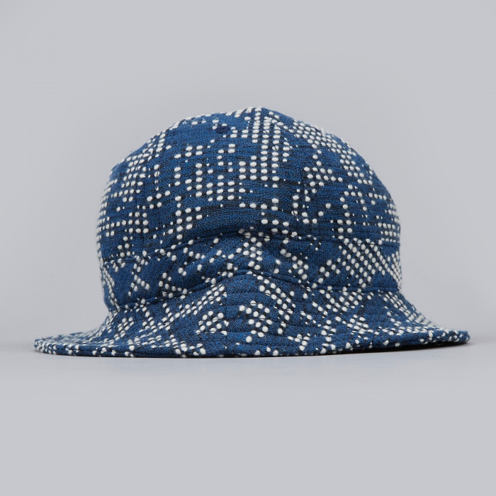 Norse Projects Bubble Weaver Bucket Hat - Blue (Image 1)