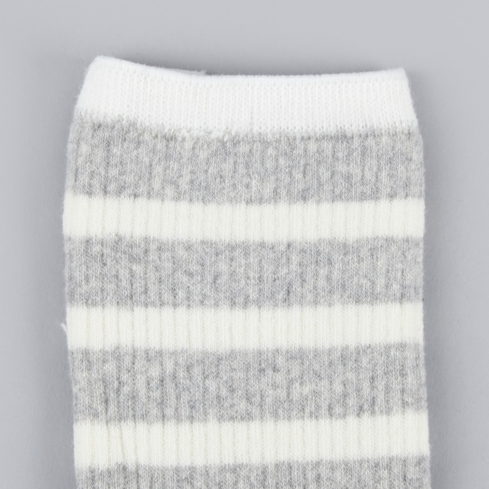 Norse Projects Bjarki Classic Normandy Sock - Light Grey Melange (Image 1)