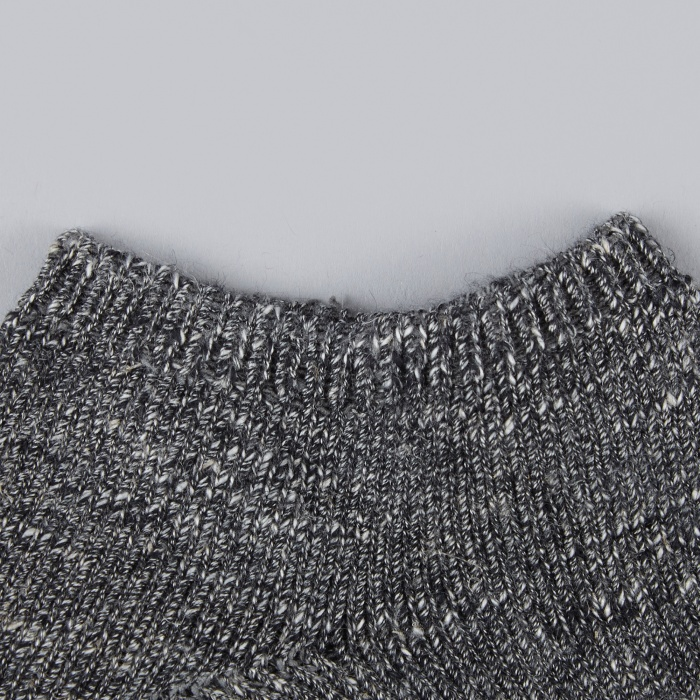 Norse Projects Haddi Cotton Sock - Charcoal Melange (Image 1)