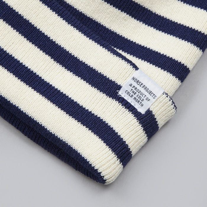 Norse Projects Classic Normandy Beanie - Blue (Image 1)