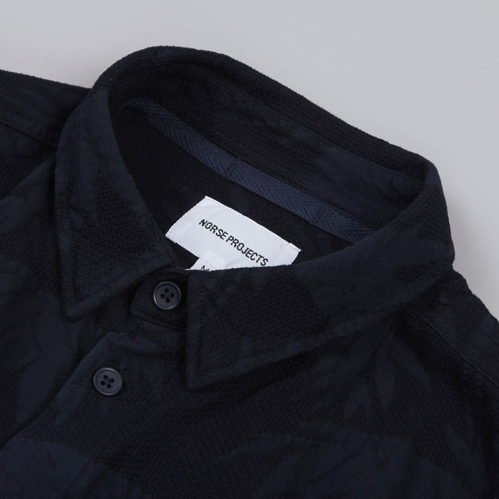 Norse Projects Aaron Garden Cotton Shirt - Dark Navy (Image 1)