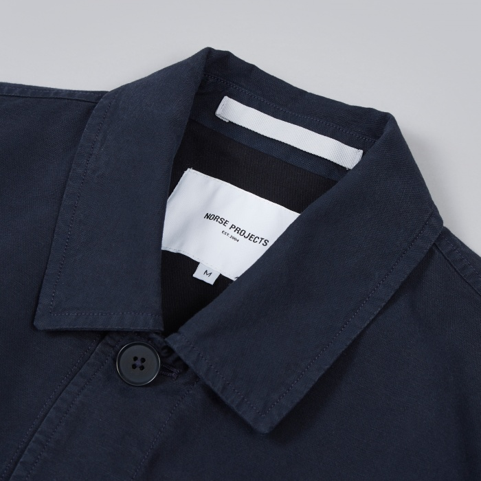 Norse Projects Kyle Dry Canvas Jacket - Dark Navy (Image 1)