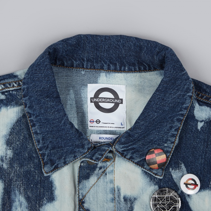 Roundel Surburban Denim Jacket - Half Bleach (Image 1)