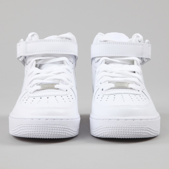 Nike Air Force 1 Mid - White/White (Image 1)