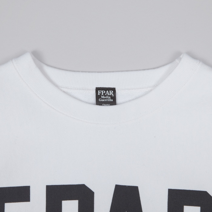 FPAR College Crew Neck Sweat - White (Image 1)