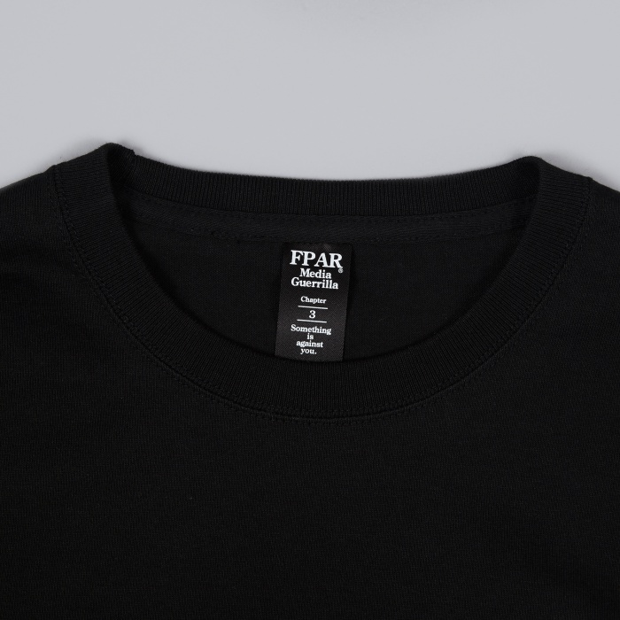 FPAR Media Killed The Guerrilla Tee - Black (Image 1)