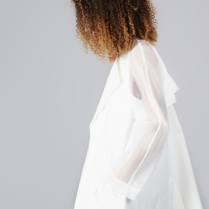 DKNY L/S Trench - Off White (Image 1)