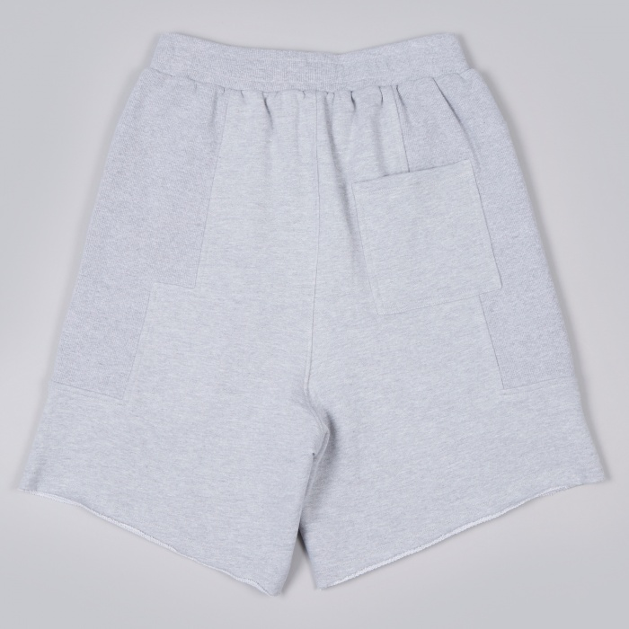 Perks & Mini PAM Terry Duplo Shorts - Grey Marle (Image 1)