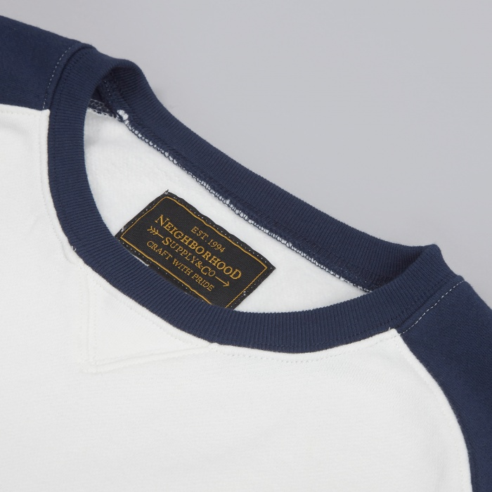 Neighborhood PE Raglan Crew - Navy (Image 1)