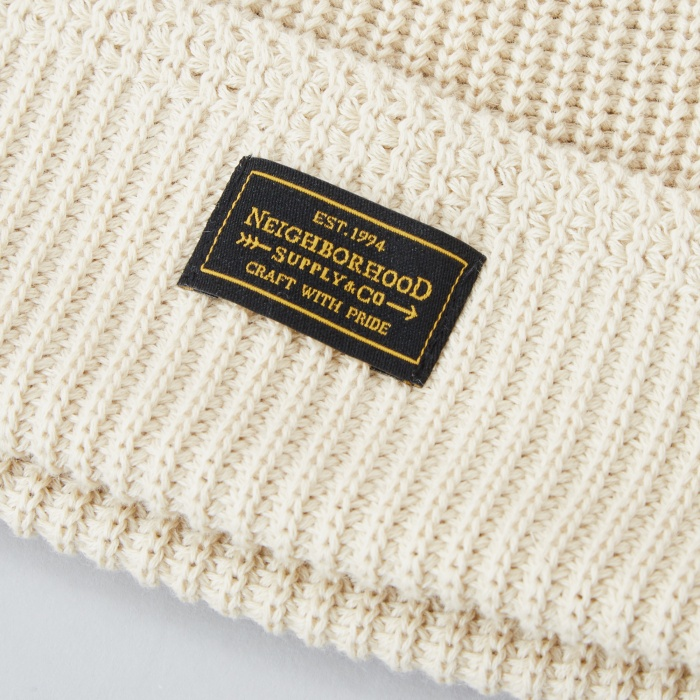 Neighborhood Jeep Beanie - Beige (Image 1)