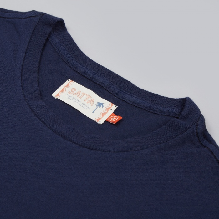 Satta Board Supply Tee - Indigo (Image 1)