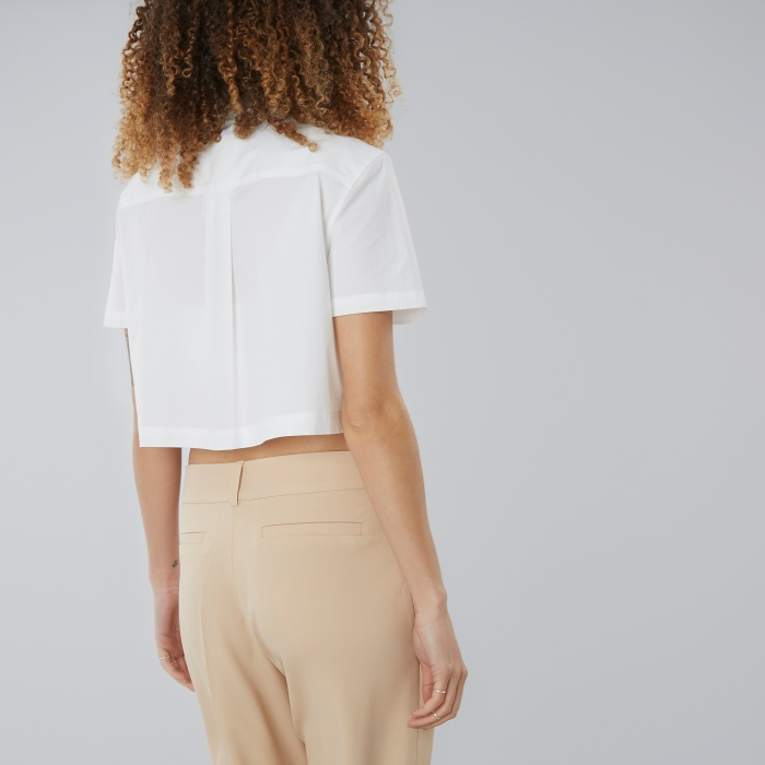 Marc By Marc Jacobs Marc By Marc Jacob Stretch Poplin Crop Shirt - White (Image 1)