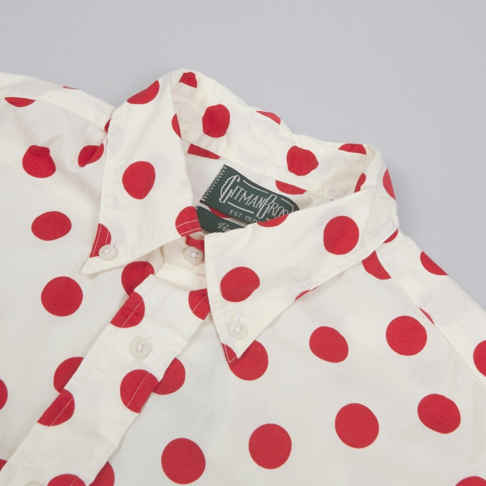Gitman Vintage Gitman Bros Red Dot SS Shirt - White (Image 1)