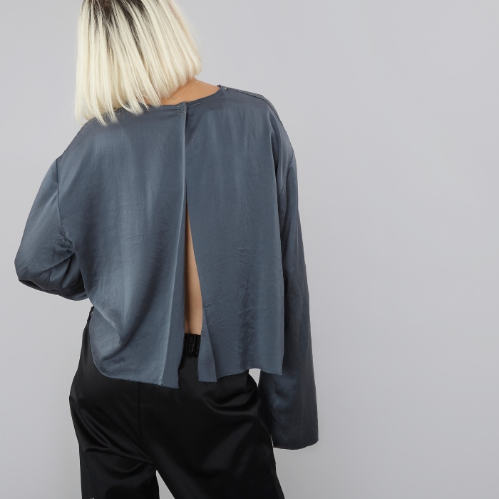 Aries Iliaria Backless Top - Dark Navy (Image 1)