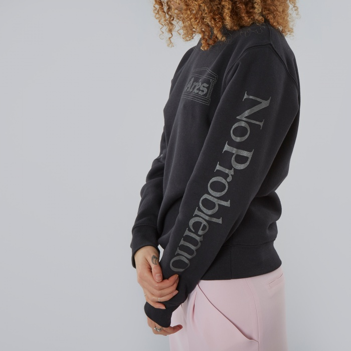 Aries No Problemo Caveman Sweat - Black/Black (Image 1)