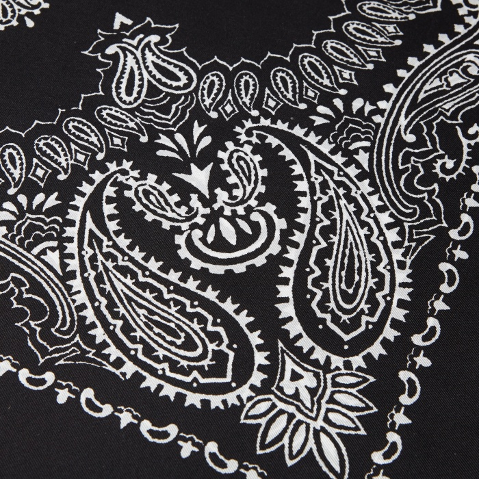 Unused Silk Bandana - Black (Image 1)
