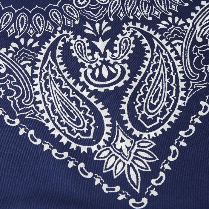 Unused Silk Bandana - Navy (Image 1)