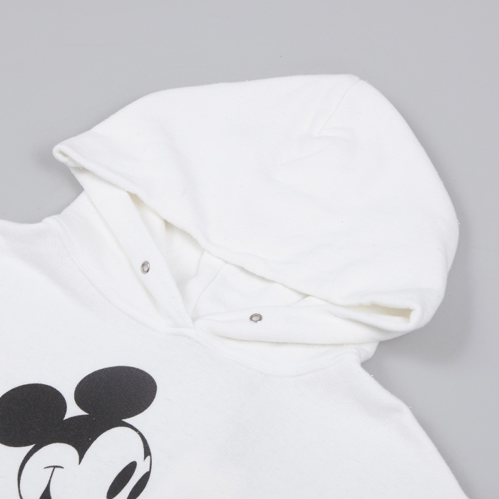Unused Mickey Hooded Sweatshirt - White (Image 1)