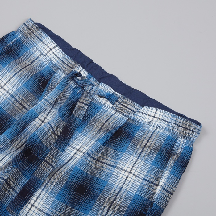 Unused Check Loose Pants - Blue (Image 1)