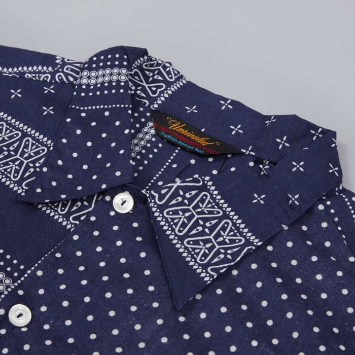 Unrivaled Daily BC Bandana Pattern Shirt - Navy (Image 1)