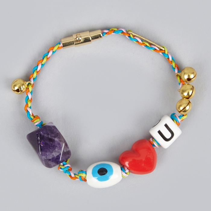 Venessa Arizaga Love Stone Bracelet - Citrus/Electric Blue Melan (Image 1)