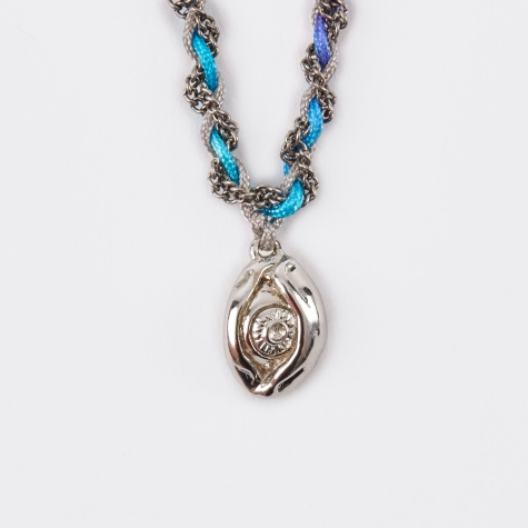 Third Eye Friendship Necklace - Cool Grey/Rainbo