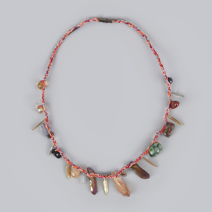 Venessa Arizaga Gypsy Party Necklace - Indian Red/Charms (Image 1)
