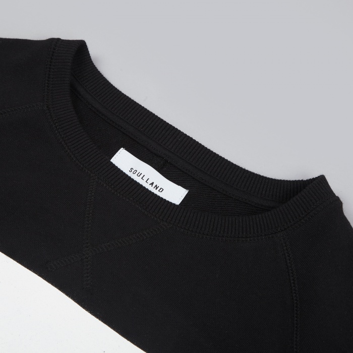 Soulland Henricks Sweat - Black/White (Image 1)