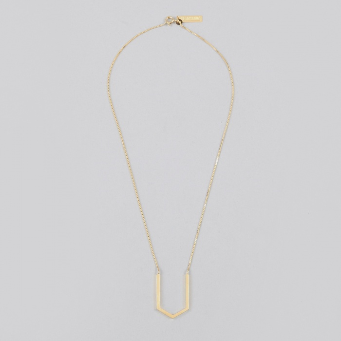 The Boyscouts Hexagon Contour Necklace - Gold (Image 1)