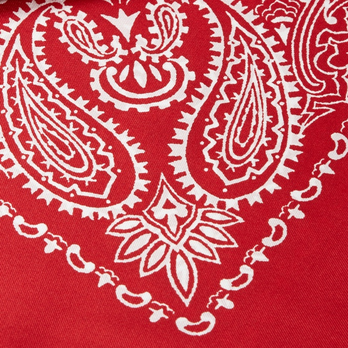 Unused Silk Bandana - Red (Image 1)